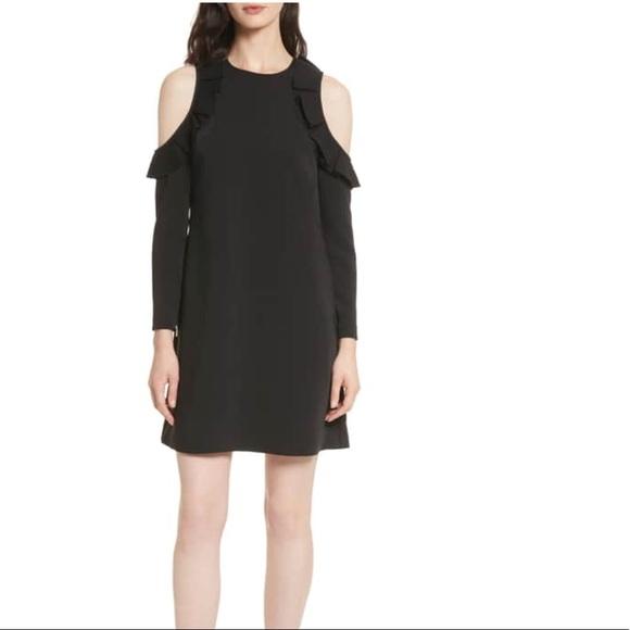 505090d0423dd Ted Baker Siiara Cold Shoulder Frill Detail Dress